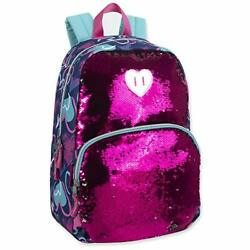 Reversible Glitter Sequin Backpacks for Girls and Women with Padded Hearts $27.22