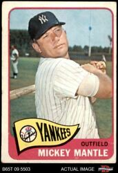 1965 Topps 350 Mickey Mantle Yankees 3 - Vg