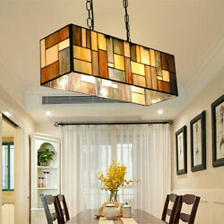 Stained Glass Classic Ceiling Light Chandelier Pendant Lamp Hotel Decor