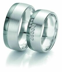 Wedding Rings Breuning Black And White Collection 6123/6124
