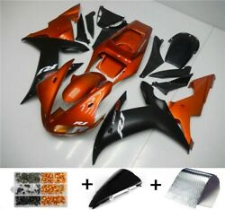 Abs Injection Plastic Kit Fairing Fit For Yamaha Yzf R1 2002-2003 Orange Us