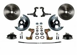 Leed Brakes Fc1003-l6b4 Front Disc Brake Kit W/2 In. Drop Spindles Gm A/f/x-body