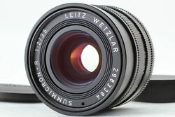 Cla'd Mint Leica Leitz Summicron-r 35mm F2 3cam Wide Lens For Leica R From Japan
