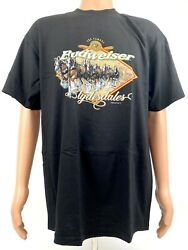 1999 Anheuser-busch Inc. The Famous Budweiser Clydesdales Tee Shirt Size L New