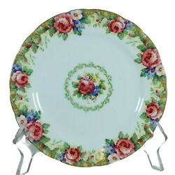 Vtg Paragon Tapestry Rose Dessert Plate Hm The Queen Double Warrant