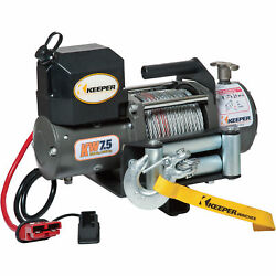 Keeper Rapid Mount Electric Winch - 7500lb. Capacity Model Kw75122rm