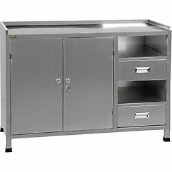 Ideal Paint Storage/mixing Cabinet And Table- 46inlx20inwx34inh Model Psb-psmct