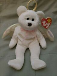 Ty Beanie Babies Halo The Angel Bear Perfect Condition, Brown Nose, A Must Have
