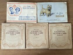 Large Vintage Collector's Lot Antique Tobacoo Trade Cards Wills's 5 Full Books