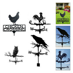 Stainless Steel Weather Vane With Animal Figurine Garden Stake Ornament