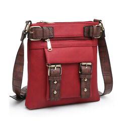 New Dasein Women#x27;s Crossbody Bags Classic Faux Leather Travel Shoulder Purse $29.99