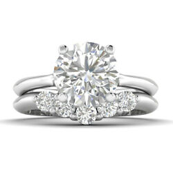 1.4ct D-si1 Diamond Vintage Engagement Ring 18k White Gold Any Size