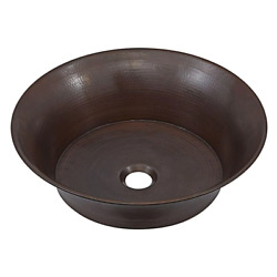Copernicus 16 In. Solid Copper Vessel Bathroom Sink In Aged Copper