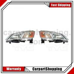2 Tyc Headlight Assembly Left Right For Nissan 2013-2018