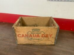 Antique Canada Dry Ginger Ale Wooden Cola Soda Carrier Crate Bottle Carrier Box