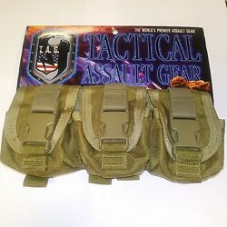 Tactical Assault Gear Brand Triple Molle Utility Pouch Coyote
