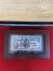 1907 5 Woodchopper United States Note Red Seal In A Nice Case.
