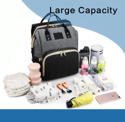 3 In 1 Portable Backpack Diaper Bags with travel bassinet amp; changing pad Gray $29.99