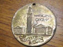 Municipal Group W.m. Young Regalia Co.1930and039s Medal Springfieldmass.