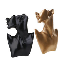 2 Pieces Necklace Mannequin Bust Mannequin Bust Earring Display