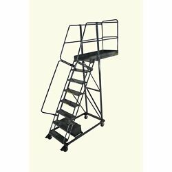 Ballymore Rolling Ladder Overall Height 120 In Steps 8 Cap 300 Lb