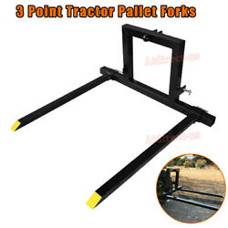 1pcs 3 Point Hitch Pallet Fork 1500 Lbs Adjustable Attachments For Category 1