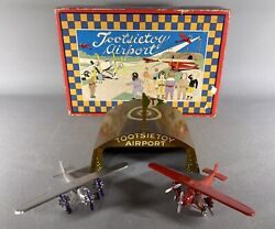 Antique Tootsie Toy Airport Ca 1930 Complete In Box
