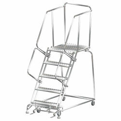 Ballymore Rolling Ladder Overall Height 83 In Steps 5 Cap 450 Lb