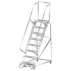 Ballymore Rolling Ladder Overall Height 113 In Steps 8 Cap 450 Lb