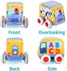 Car Toys Kid Pull-back Vehicle Set Soft Baby Toys Sets Gift For Toddlers Kids