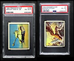 1950 Topps Freedomand039s War Complete Master Set 4 - Vg/ex