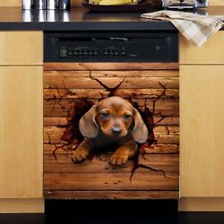 Dachshund Dog Dishwasher Cover Stickers, Gift For Dog Lover Stickers Vinyl Decal