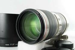 Canon Ef 70-200mm 2.8 Is Usm2 Tripod Seat Lens Hood With Original Box Excellent