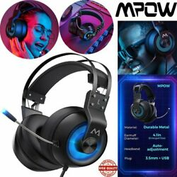 Mpow Eg3 Wired Gaming Headset Hd Surround Sound Headphone For Pc Ps3 S4 Xbox One