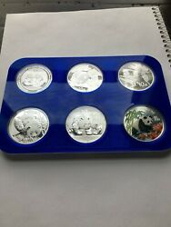 Chinese Silver Panda Coin Custom Display Magnetic Stacking Brilliant Color