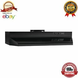 30 Black Externally Vented Round Ducted Range Hood 2 Speed Fan Kitchen Exhaust