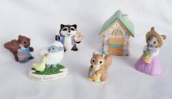 6 Piece Hallmark Easter Merry Miniatures Includes Lamb With Duck