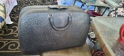 Antique Leather Doctor's Bag/valise Early 1900's - Walrus/seal Nice Shape