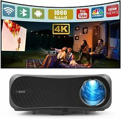 8500lms 5g Wifi Projector 4k Video Native 1080p Android 6.0 Bt4.2 And120in Screen
