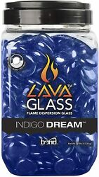 Bond Manufacturing 67984 Lavaglass Round Fire Pit Dispersion Glass, 10 Lb, Indig