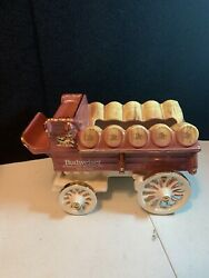 Beautiful Rare Budweiser Clydesdale Beer Wagonceramic