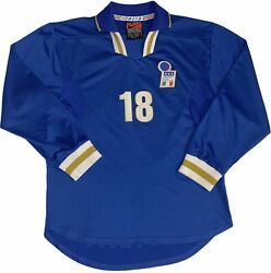 Player Issued 1996/98 Nike Roberto Baggio Italy Soccer Jersey Football Shirt L