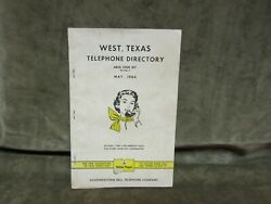Vintage 1964 West Texas Southwestern Bell Telephone Directory Book 16 Pages