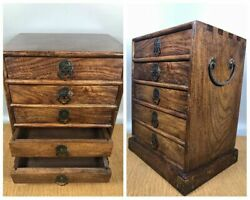 5floors Antique Furniture Rosewood Treasure Chest Jewelry Box Storage Boxes Wood