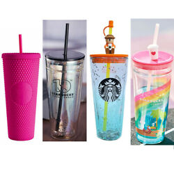 China Starbucks Four Straw Cups--24oz Barbie Pink And 3 Summer 591ml Glass Cups