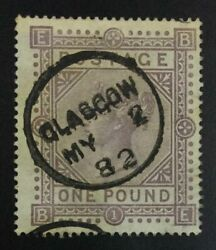 Momen Great Britain Sg 129 1878 Used Andpound4500 Lot 63196