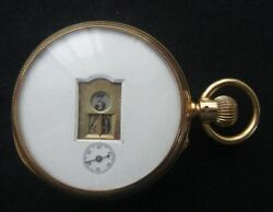 A Good Antique Victorian 18ct Solid Gold Jump Hour Pocket Watch C1885