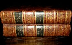 2v 1811 Holy Bible Fine Binding Styles Antique Lewes Maps Book Leather Set Rare