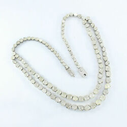 Full Long Polki Diamond Victorian Necklace 925 Silver Jewelry Gift For Her