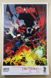 Spawn 300 Capullo D Cover 11 X 17 Art Print - Signed By Todd Mcfarlane Rare